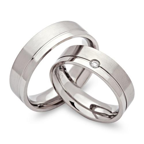 Snubní prsteny z chirurgické oceli OC1050B