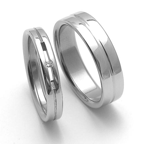 Snubní prsteny z chirurgické oceli SRZ4026 (Doprava a Dárkové balení Zdarma)