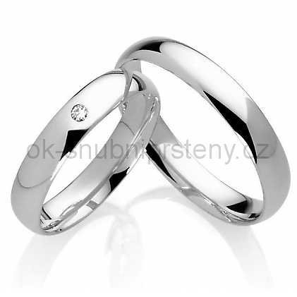 Stříbrné snubní prsteny ST1038