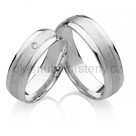 Stříbrné snubní prsteny ST1020