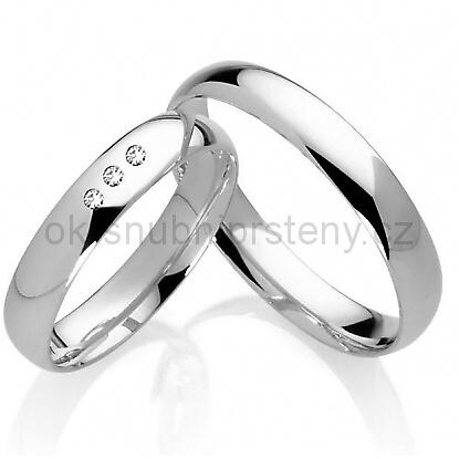 Stříbrné snubní prsteny ST1005
