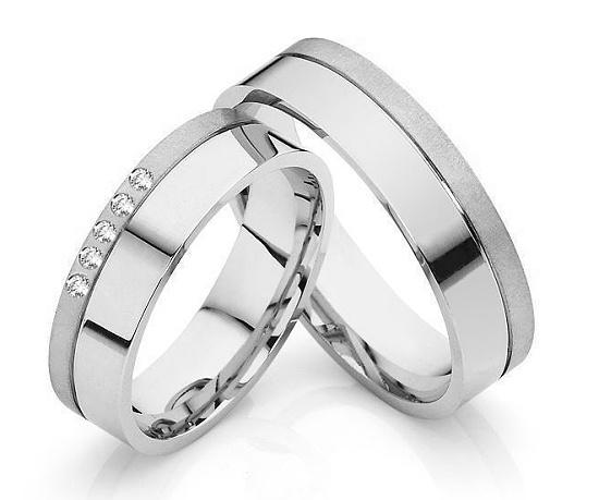 Snubní prsteny s diamanty OC1097B