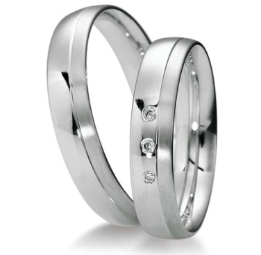 Snubní prsteny z oceli s brilianty OC1129B
