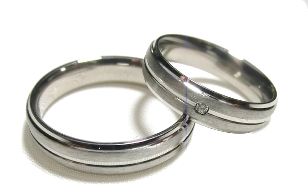 Snubní prsteny z chirurgické oceli OC1048B