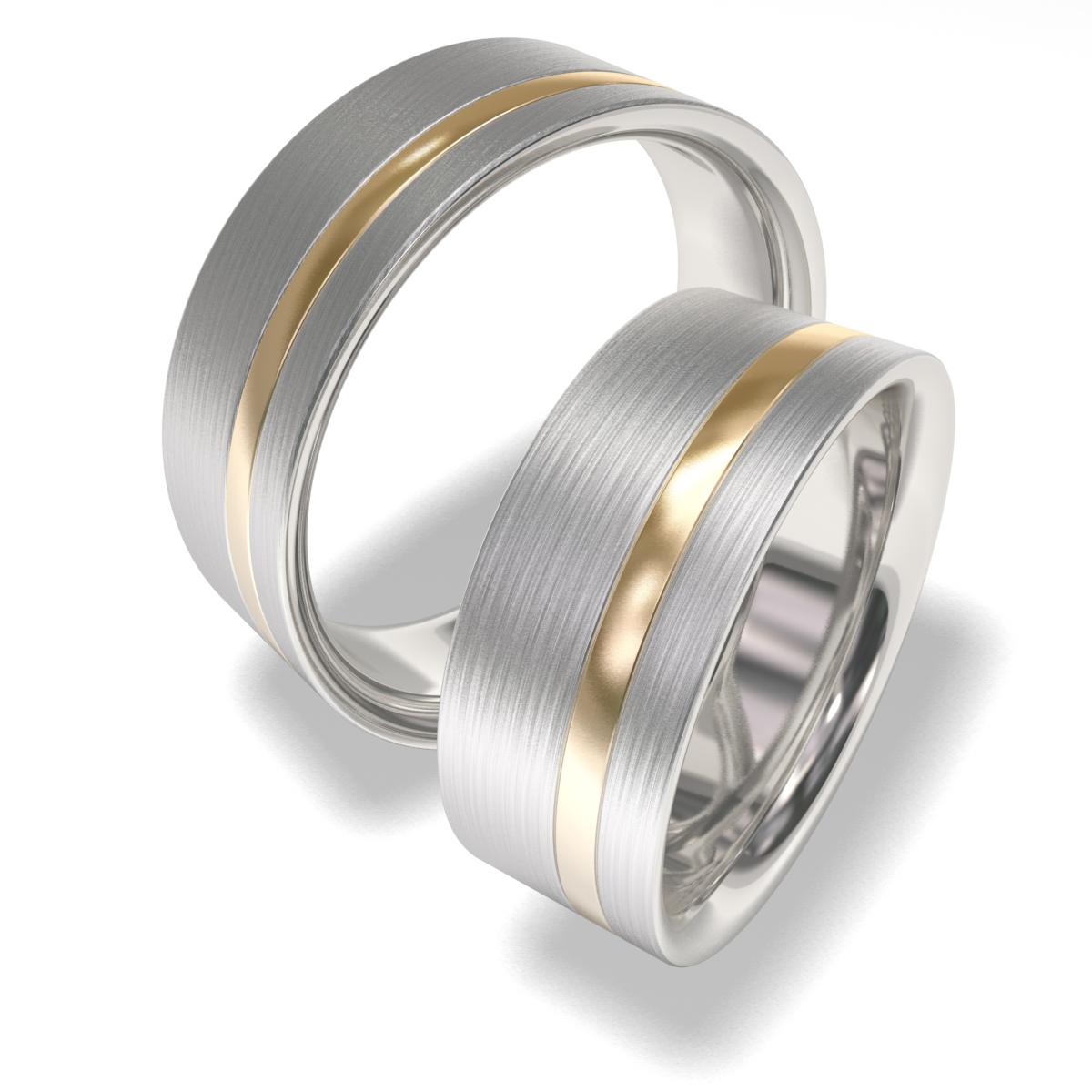 Snubní prsteny z chirurgické oceli 7090-2 (Snubní prsteny 7090-2)