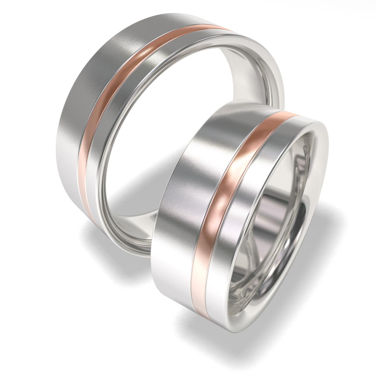 Snubní prsteny z chirurgické oceli 7090 (Snubní prsteny 7090)
