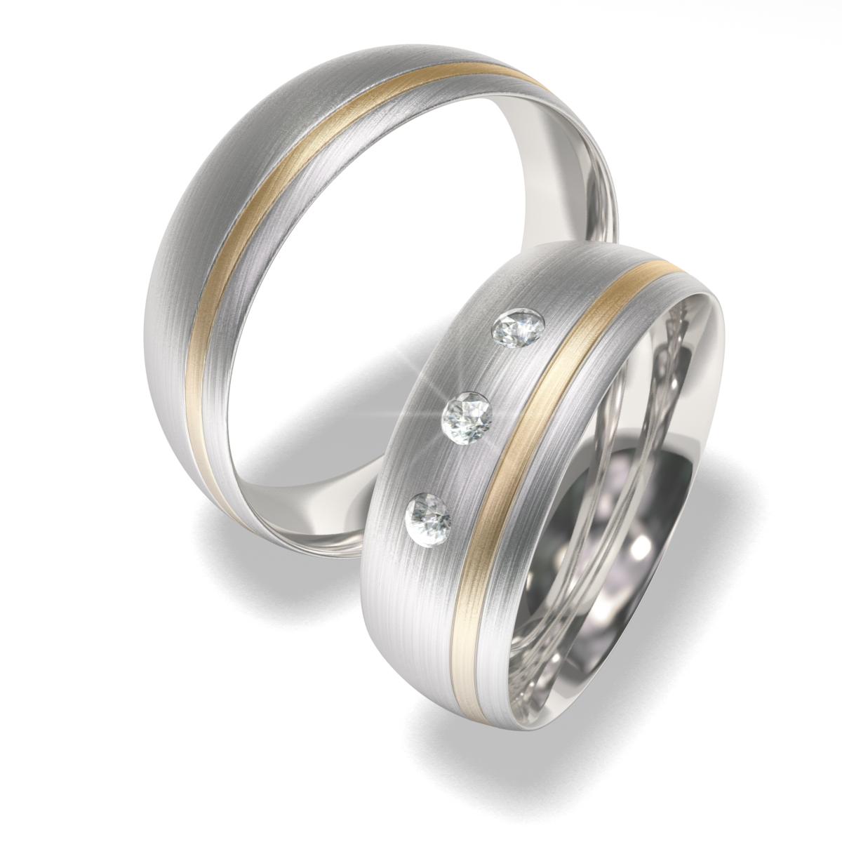 Snubní prsteny z chirurgické oceli 7022 (Snubní prsteny 7022)