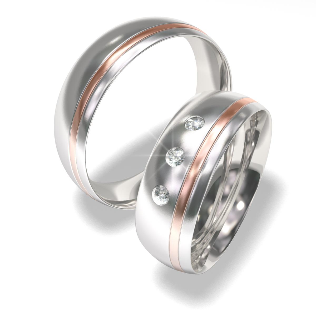 Snubní prsteny z chirurgické oceli 7022-3 (Snubní prsteny 7022-3)