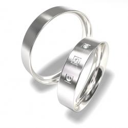 Snubní prsteny z chirurgické oceli 0140202150 (Snubní prsteny 0140202150)