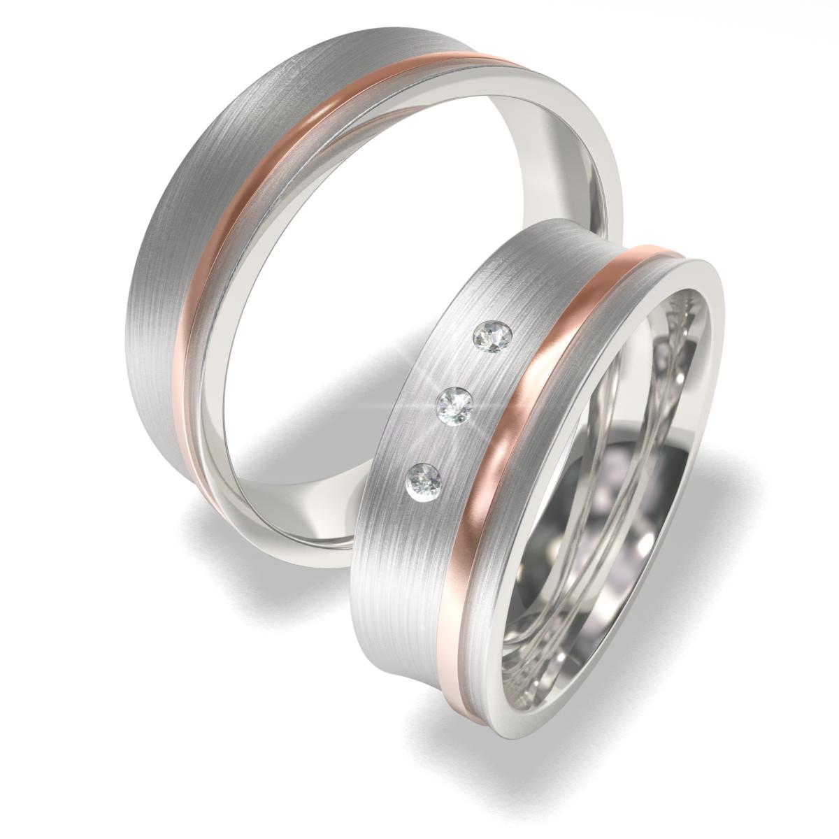 Snubní prsteny z chirurgické oceli 7024 (Snubní prsteny 7024)