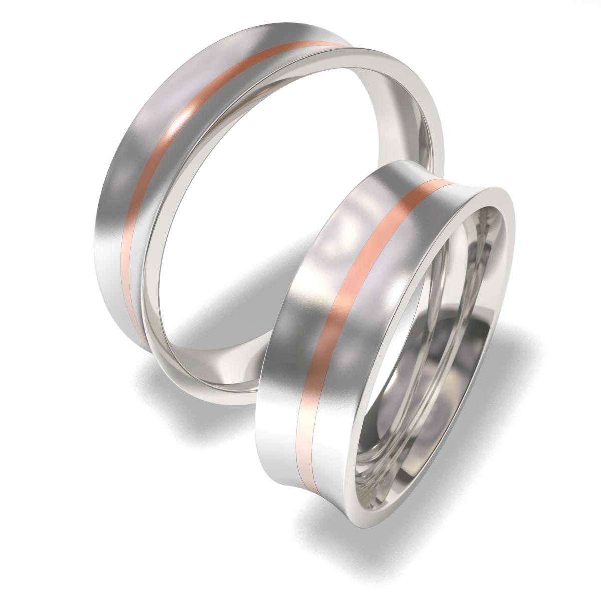 Snubní prsteny z chirurgické oceli 7087-3 (Snubní prsteny 7087-3)