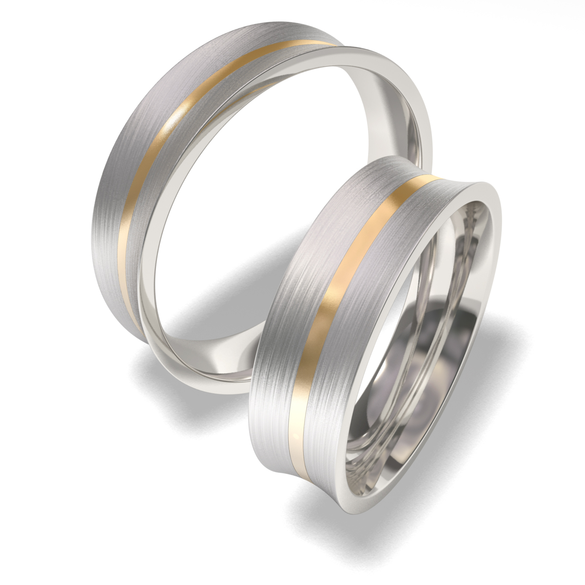 Snubní prsteny z chirurgické oceli 7087 (Snubní prsteny 7087)