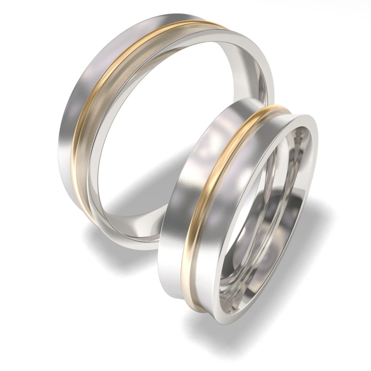 Snubní prsteny z chirurgické oceli 7088 (Snubní prsteny 7088)