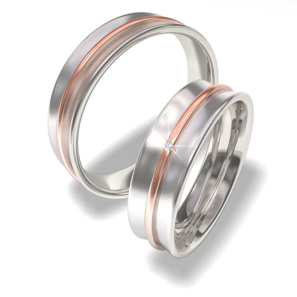 Snubní prsteny z chirurgické oceli 7091 (Snubní prsteny 7091)