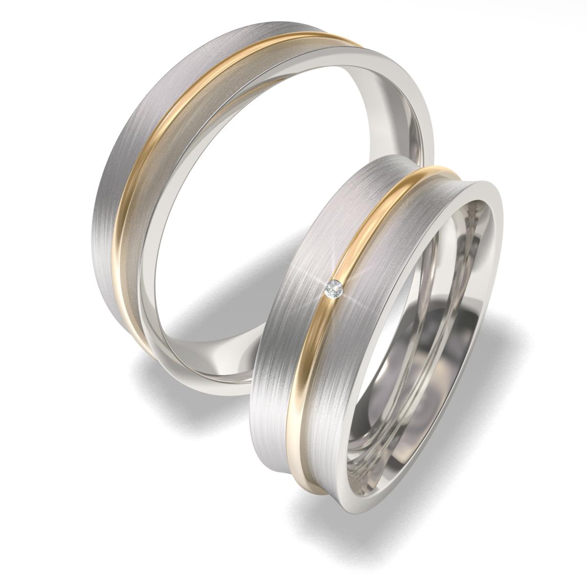 Snubní prsteny z chirurgické oceli 7091-3 (Snubní prsteny 7091-3)