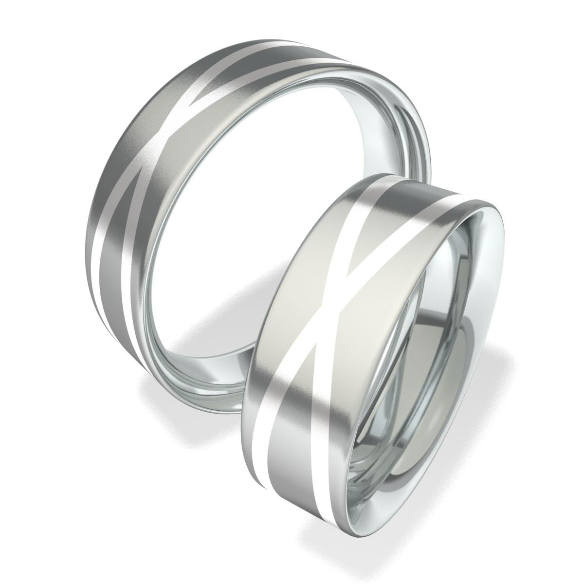 Snubní prsteny z chirurgické oceli 702003 (Snubní prsteny 702003)