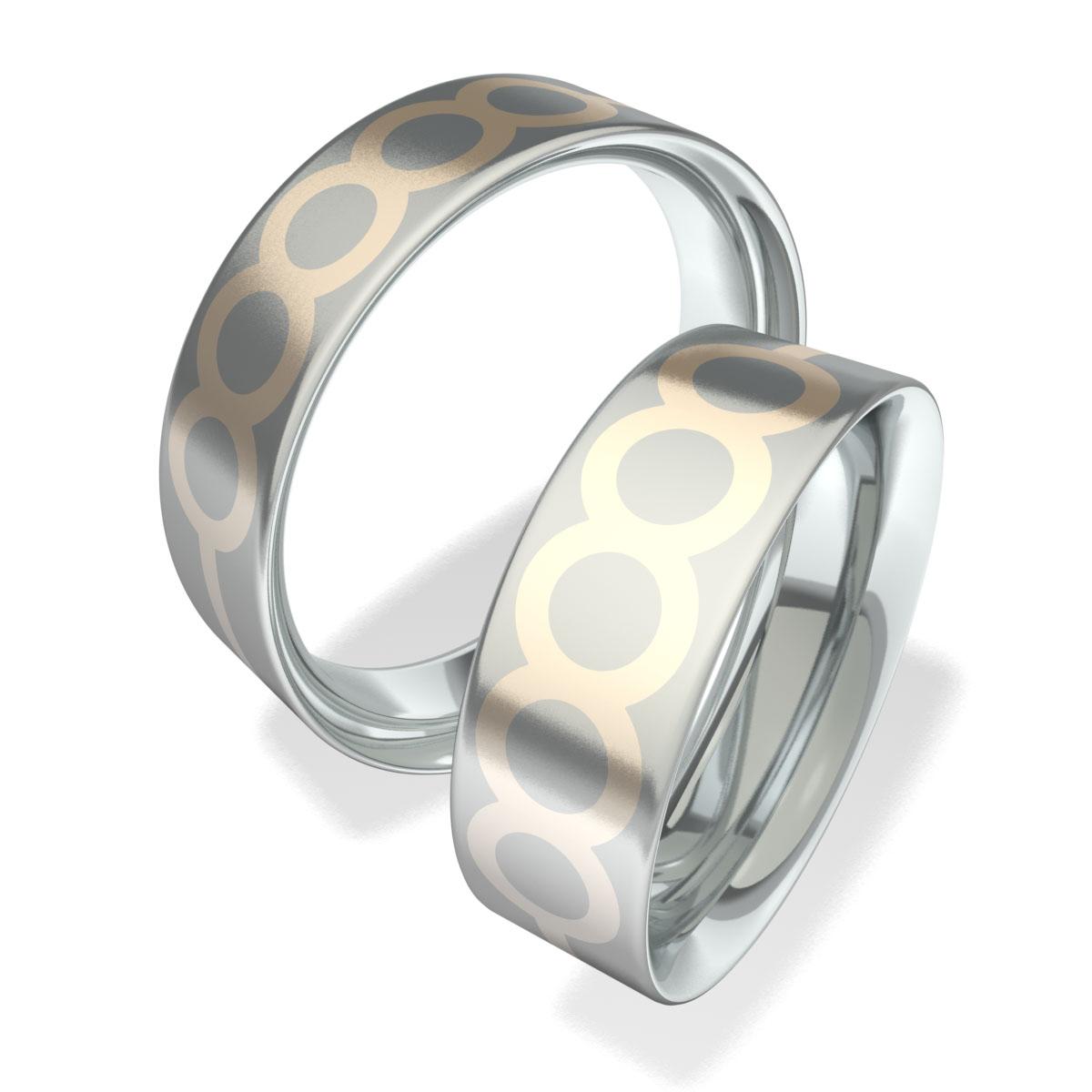 Snubní prsteny z chirurgické oceli 602004 (Snubní prsteny 602004 )