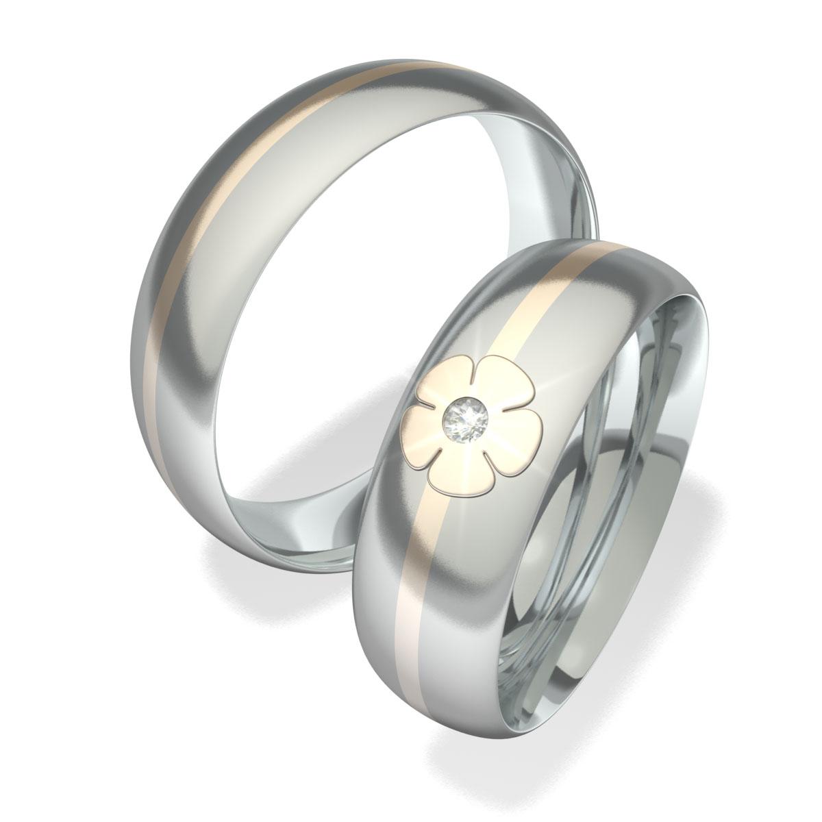 Snubní prsteny z chirurgické oceli 7094 (Snubní prsteny 7094)
