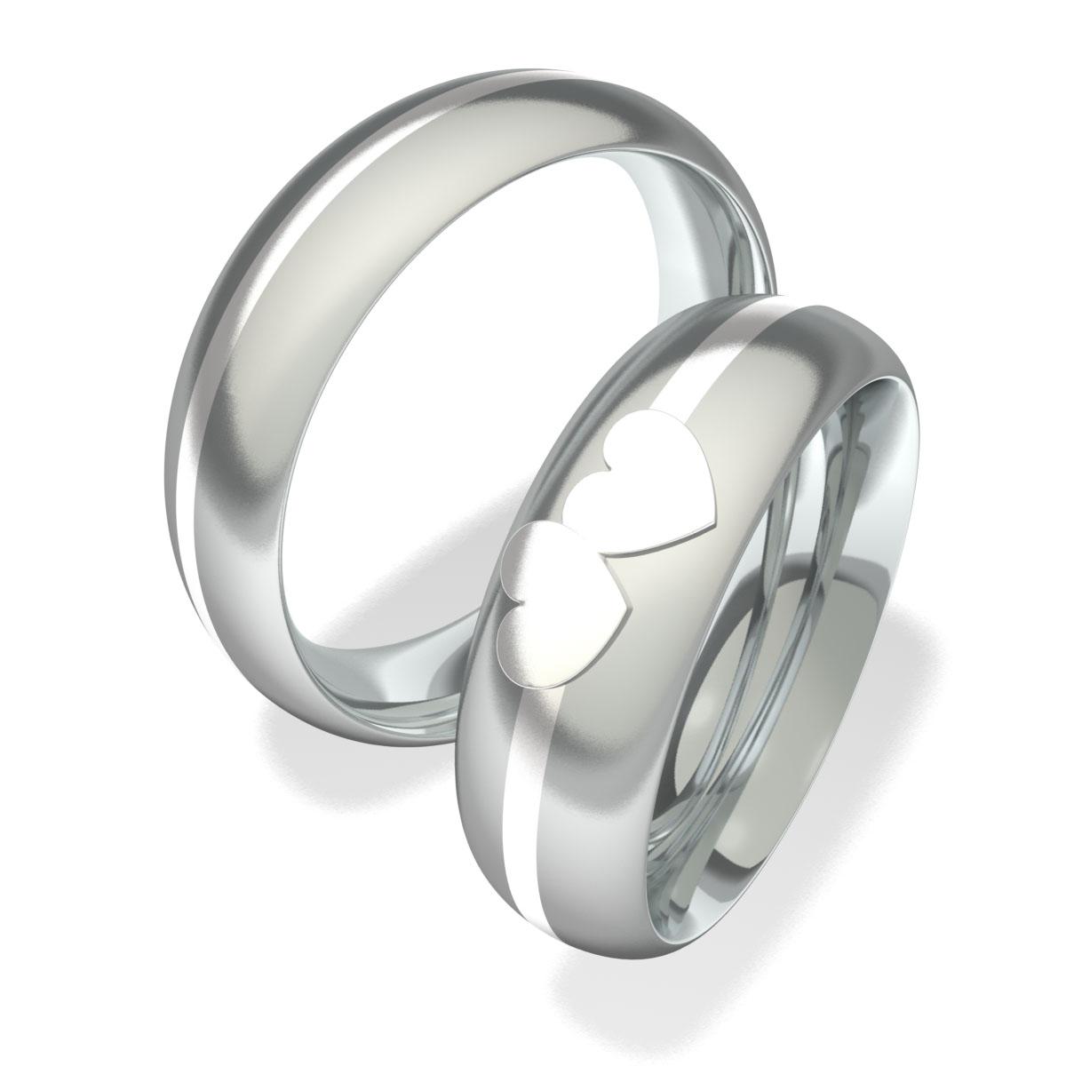 Snubní prsteny z chirurgické oceli 7093 (Snubní prsteny 7093)