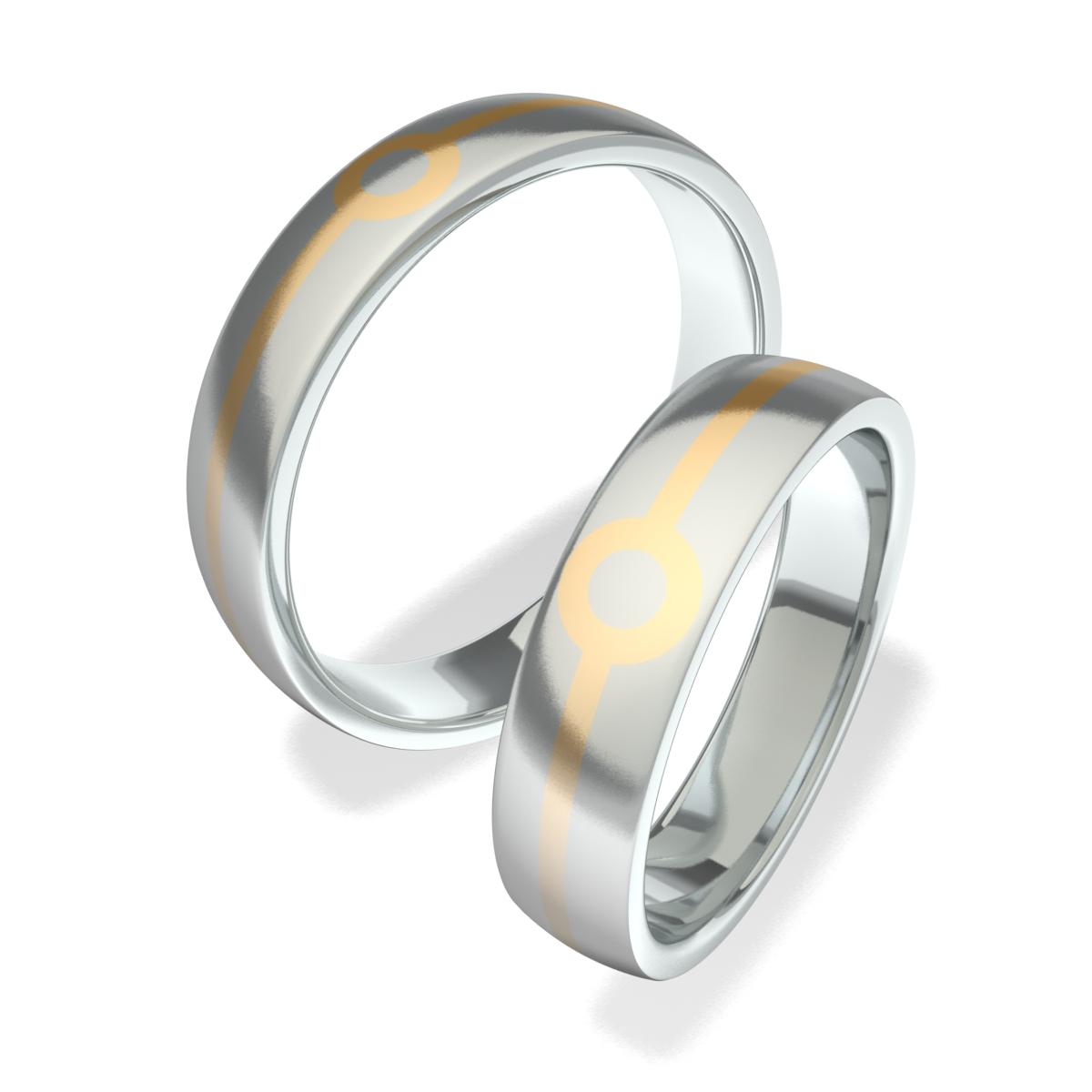Snubní prsteny z chirurgické oceli 602007 (Snubní prsteny 602007 )