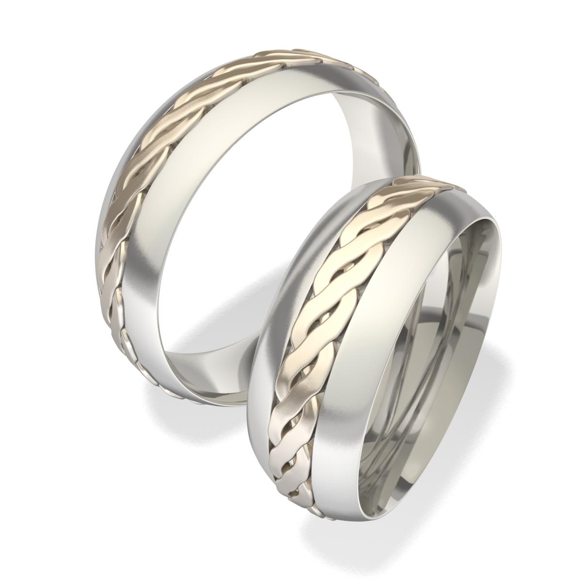 Snubní prsteny z chirurgické oceli 7021 (Snubní prsteny 7021)