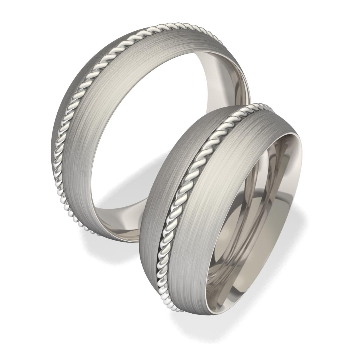 Snubní prsteny z chirurgické oceli 7040 (Snubní prsteny 7040)