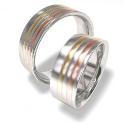 Snubní prsteny z chirurgické oceli 702 (Snubní prsteny 702)