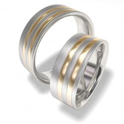 Snubní prsteny z chirurgické oceli 7086 (Snubní prsteny 7086)