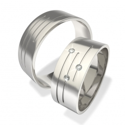 Snubní prsteny z chirurgické oceli 0140202017 (Snubní prsteny 0140202017)