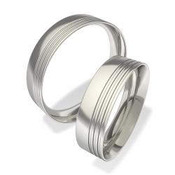 Snubní prsteny z chirurgické oceli 0140200076 (Luxusní Ocelové snubní prsteny 0140200076)