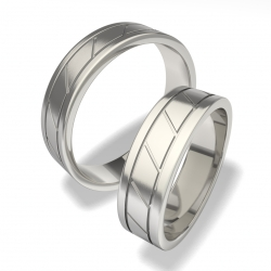 Snubní prsteny z chirurgické oceli 7030