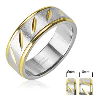 Snubní prsteny z chirurgické oceli R-H0814 (Snubní prsteny z chirurgické oceli R-H0814)