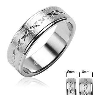 Snubní prsteny z chirurgické oceli R-H0804 (Snubní prsteny z chirurgické oceli R-H0804)