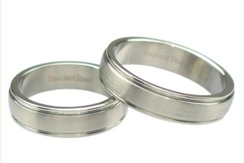 Snubní prsteny chirurgická ocel 1 pár RSS275 (Snubní prsteny RSS275)