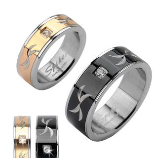 Snubní prsteny z chirurgické oceli R-H1621 (Snubní prsteny R-H1621)