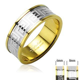Snubní prsteny z chirurgické oceli R-H0098 (Snubní prsteny R-H0098)