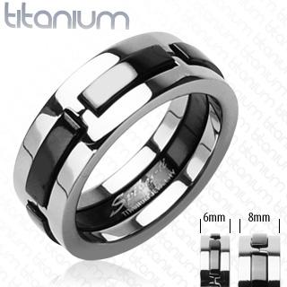 Snubní Titanové prsteny R-TI-3437