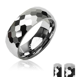 Wolframové snubní prsteny R-TU-101