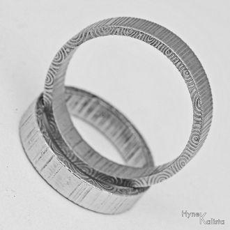 Dokonale pravidelné snubní prsteny damasteel – Regular (Dokonale pravidelné snubní prsteny damasteel – Regular)
