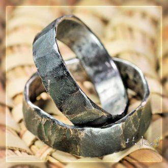 Snubní prsteny kovaná nerezová ocel – Draill (Snubní prsteny kovaná nerezová ocel - Draill)
