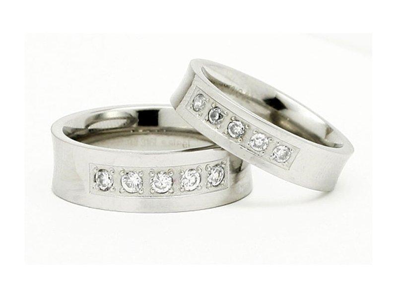 Snubní prsteny z chirurgické oceli TLJR599MW (Snubní prsteny z chirurgické oceli TLJR599MW)