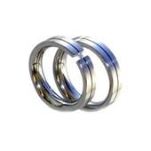 Snubní prsteny z chirurgické oceli TR53008R530 (Snubní ocelové prsteny se zirkonem)