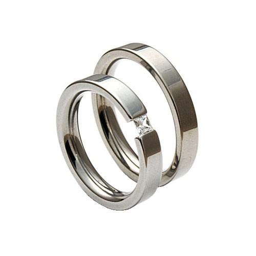 Snubní prsteny z chirurgické oceli TR406R4 (Snubní prsteny TR406R4)