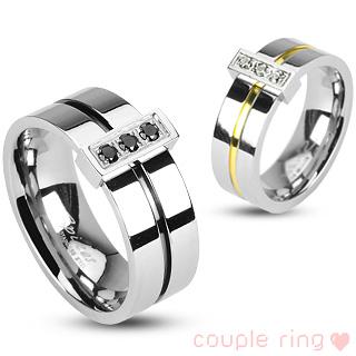 Snubní prsteny z chirurgické oceli R-H1738 (Snubní prsteny z chirurgické oceli R-H1738)