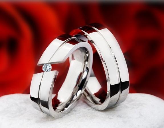 Snubní Titanové prsteny JT988 (Snubní prsteny JT988)