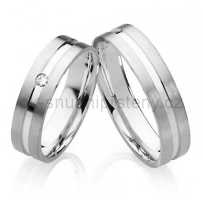 Luxusní Snubní prsteny z chirurgické oceli OC1022 (Snubní prsteny z chirurgické oceli OC1022)