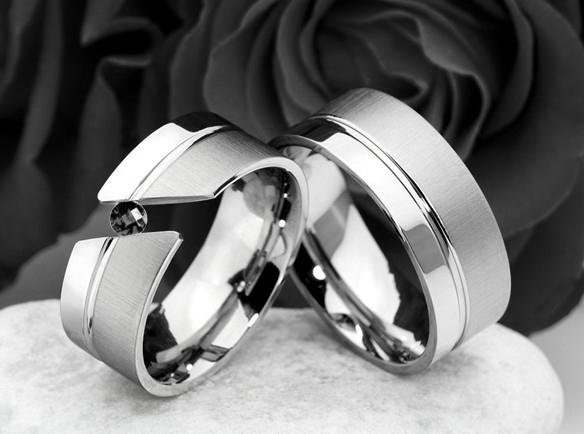 Snubní Titanové prsteny Black Diamond JT989 (Snubní prsteny JT989)