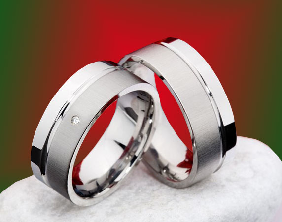 Snubní Titanové prsteny JT982 (Snubní prsteny JT982)