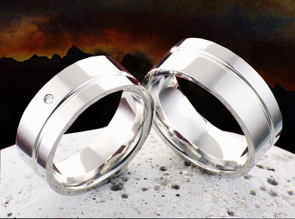 Snubní Titanové prsteny JT984 (Snubní prsteny JT984)