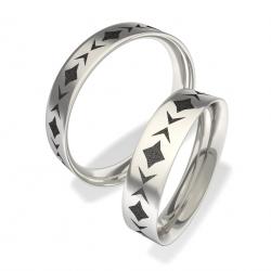 Snubní prsteny z chirurgické oceli 3011 (Snubní prsteny 3011)